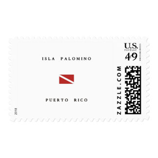 Isla Palomino Puerto Rico Scuba Dive Flag Postage Stamps