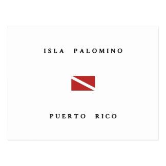 Isla Palomino Puerto Rico Scuba Dive Flag Postcard