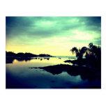 isla paradisíaca - by night tarjetas postales