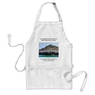 Isla Partida Sculpted Sandstone Baja California Su Adult Apron