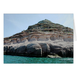 Isla Partida Sculpted Sandstone Baja California Su Card