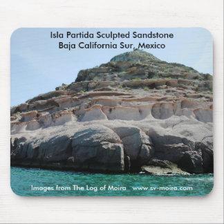 Isla Partida Sculpted Sandstone Baja California Su Mouse Pad