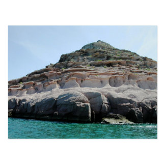 Isla Partida Sculpted Sandstone Baja California Su Postcard