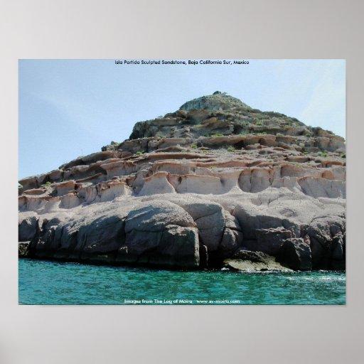 Isla Partida Sculpted Sandstone Baja California Su Posters