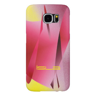 Isla Pink Yellow Style Samsung Galaxy case