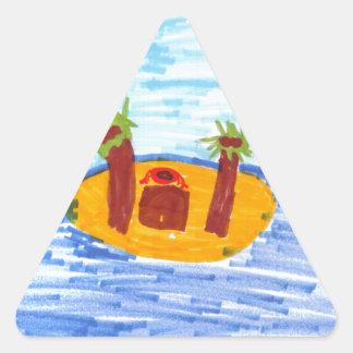 Isla privada pegatina de trianguladas
