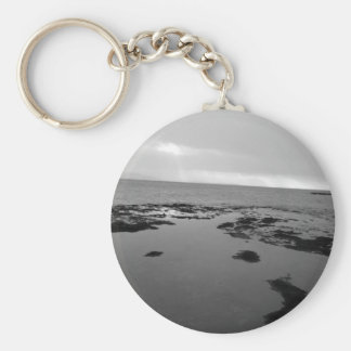 Isla Rockpools de marea de la cabra Llavero Redondo Tipo Pin