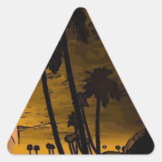 isla romántica de oro calcomanía triangulo