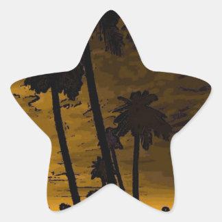 isla romántica de oro pegatina forma de estrella personalizada