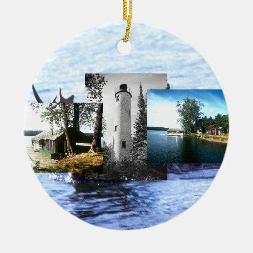 Isla Royale de ABH Adorno Redondo De Cerámica