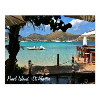 Isla San Martín SXM de Pinel Tarjeta Postal