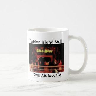 Isla San Mateo, CA de la moda de la mina de oro Tazas De Café