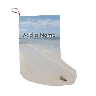 Isla Saona - Caribbean Beach Small Christmas Stocking