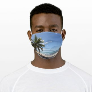 Isla Saona Caribbean Paradise Beach Cloth Face Mask