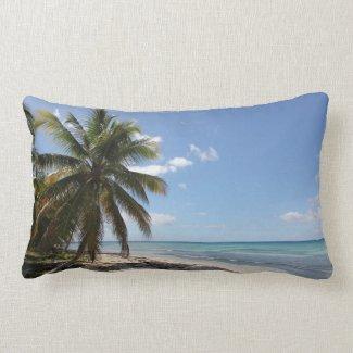 Isla Saona Caribbean Paradise Beach Lumbar Pillow
