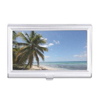 Isla Saona Caribbean Paradise Beach Business Card Cases