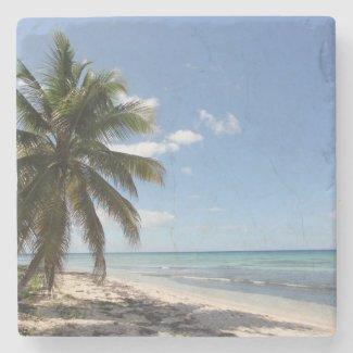 Isla Saona Caribbean Paradise Beach Stone Coaster