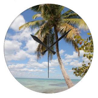 Isla Saona - Palm Tree at the Beach Wallclock