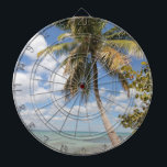 "Isla Saona - Palm Tree at the Beach Dartboard<br><div class=""desc"">Isla Saona is a typical tropical island in the Caribbean, part of the Dominican Repulic. A true paradise. This photo features a palm tree on a picturesque scenic beach. Please feel free to fully customize this product to your needs. Change from landscape to portrait (or from horizontal to vertical layout)...</div>"