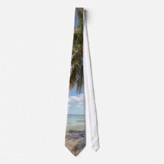 Isla Saona - Palm Tree at the Beach Neck Tie
