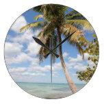 Isla Saona - palmera en la playa Relojes De Pared