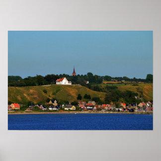 Isla sueca de Ven, Oresund Póster