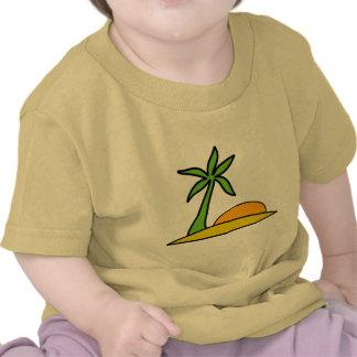 Isla tropical abandonada camiseta