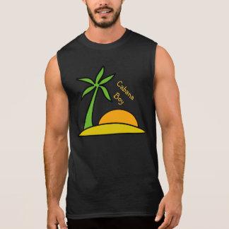 Isla tropical abandonada playera sin mangas