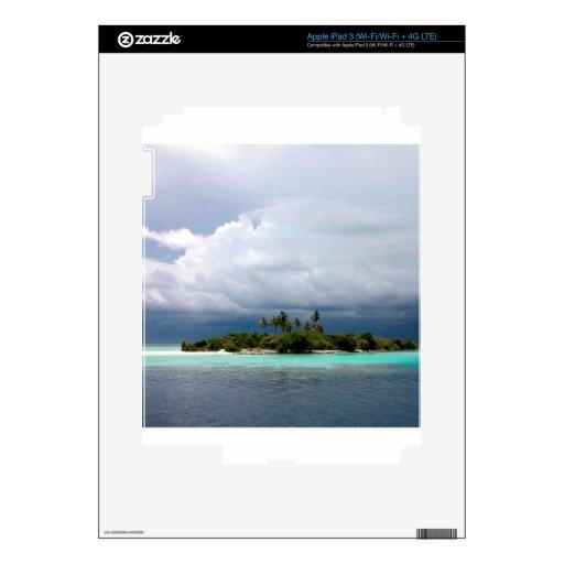 Isla tropical de la ensenada del tesoro iPad 3 skins