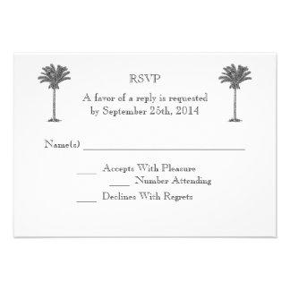 Isla tropical de la palmera formal que casa RSVP