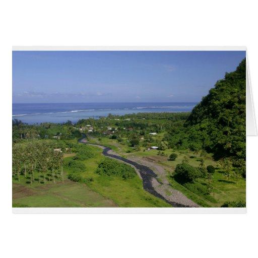 Isla tropical del paraíso de Tahití Tarjeta De Felicitación