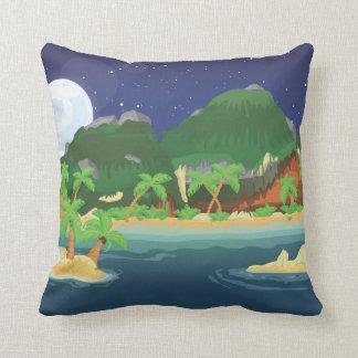 Isla tropical del tesoro almohada