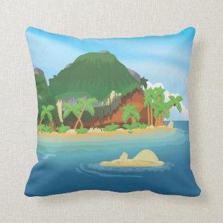 Isla tropical del tesoro cojín