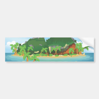 Isla tropical del tesoro pegatina para auto