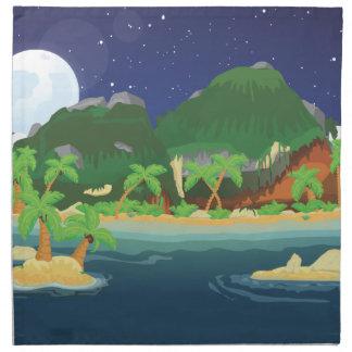 Isla tropical del tesoro servilleta de papel