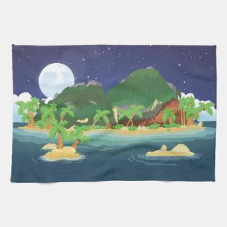 Isla tropical del tesoro toalla