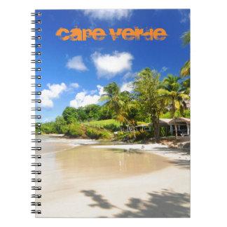 Isla tropical en Cabo Verde Libreta Espiral