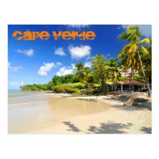 Isla tropical en Cabo Verde Postal