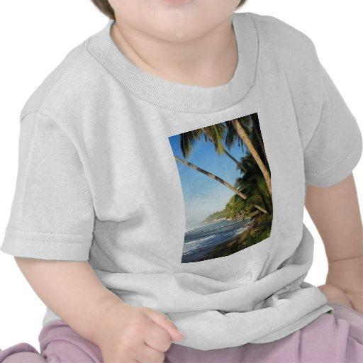 Isla tropical exótica camisetas