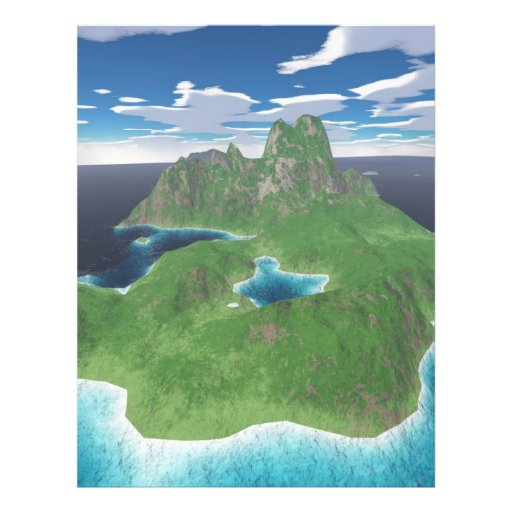"""Isla tropical folleto 8.5"""" x 11"""""""