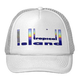 Isla tropical gorro
