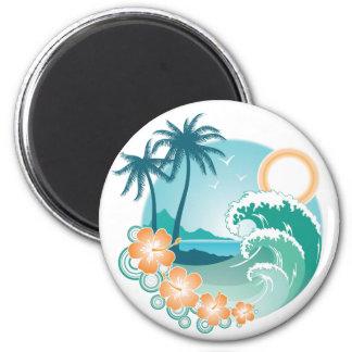 Isla tropical imanes
