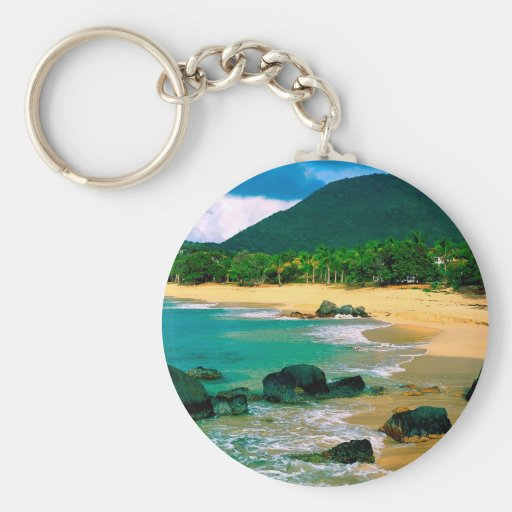 Isla tropical las orillas San Martín Llaveros Personalizados