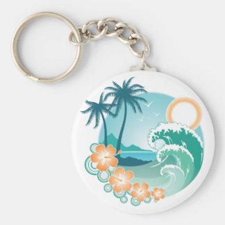 Isla tropical llaveros