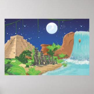Isla tropical poster