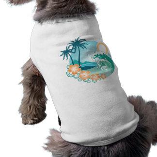 Isla tropical camisa de perro