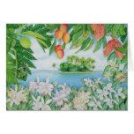 Isla tropical tarjeta de felicitación