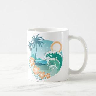 Isla tropical tazas