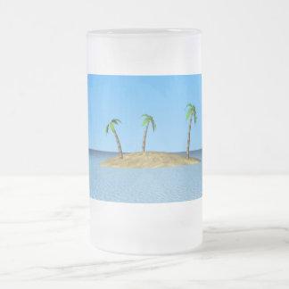 Isla tropical taza de cristal