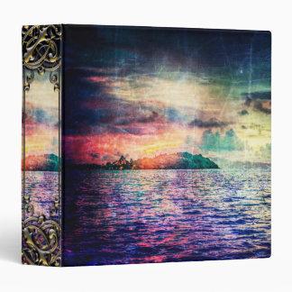 "Isla vibrante colorida bonita del océano de la carpeta 1 1/2"""